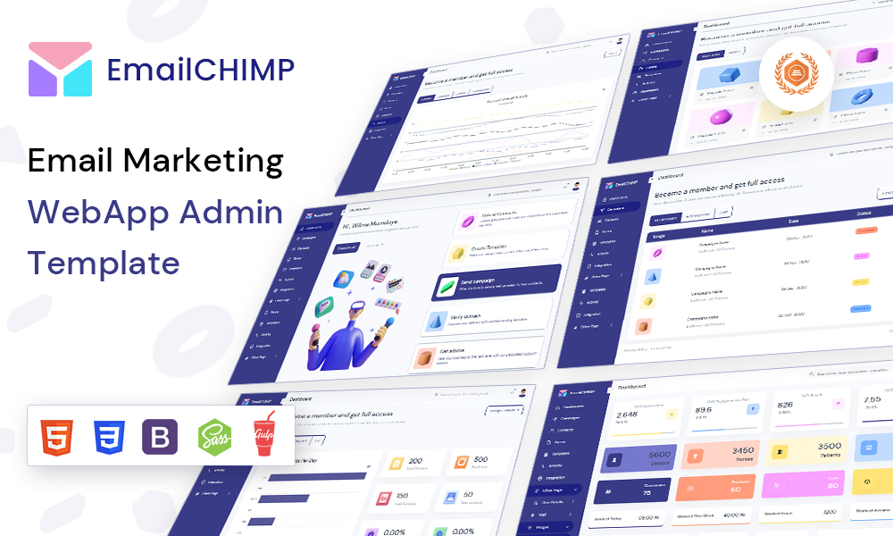 EmailChimp - Marketing Tool Admin Template