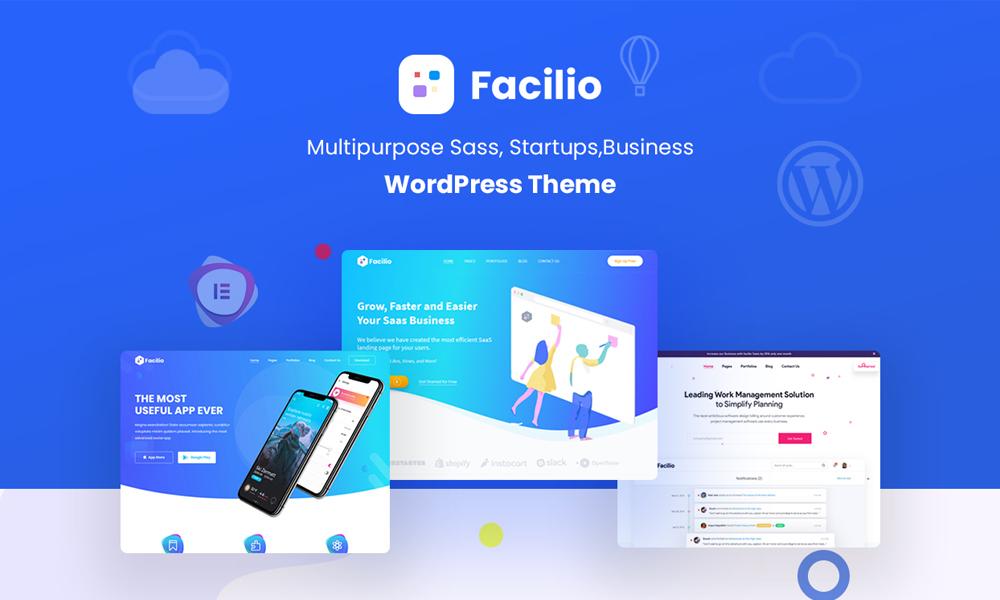 Facilio - MultiPurpose WordPress Theme for Saas Startup