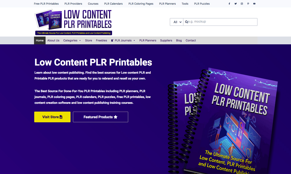 Low Content PLR Printables