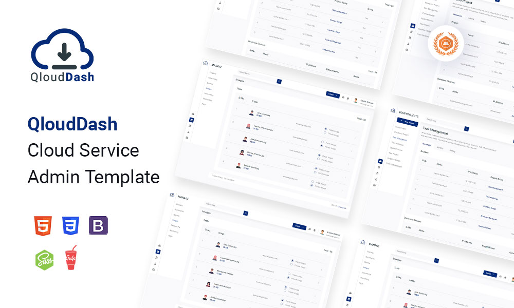 QloudDash | Cloud Service Admin Template