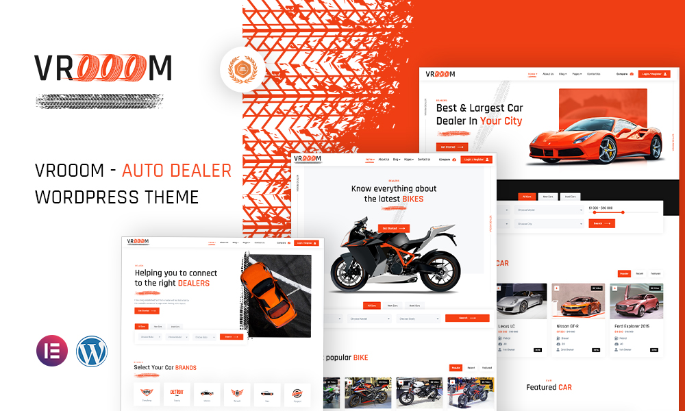 Vrooom - Auto Dealer WordPress Theme