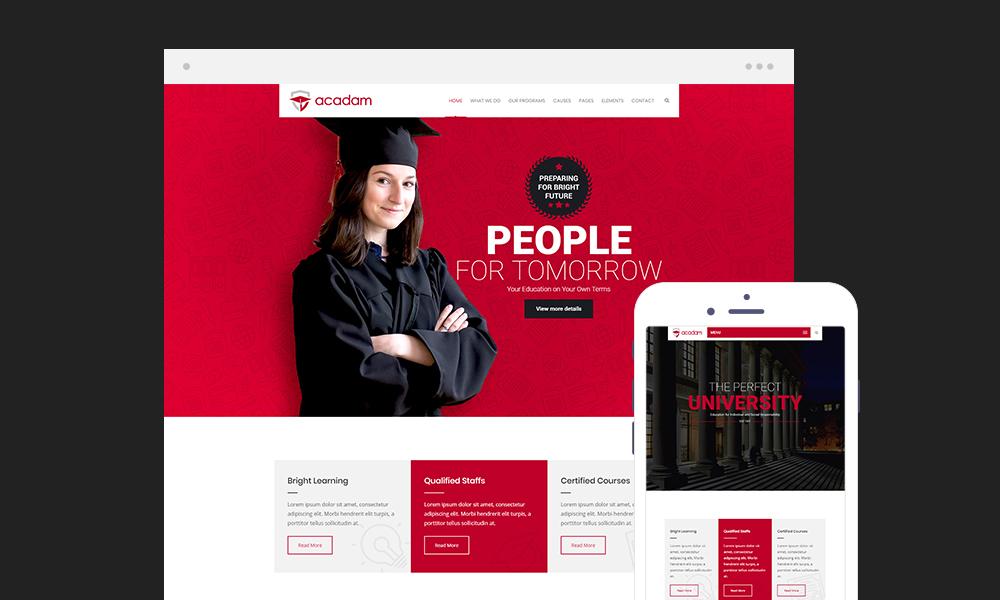 Acadam Lite – Education WordPress Theme Free Download
