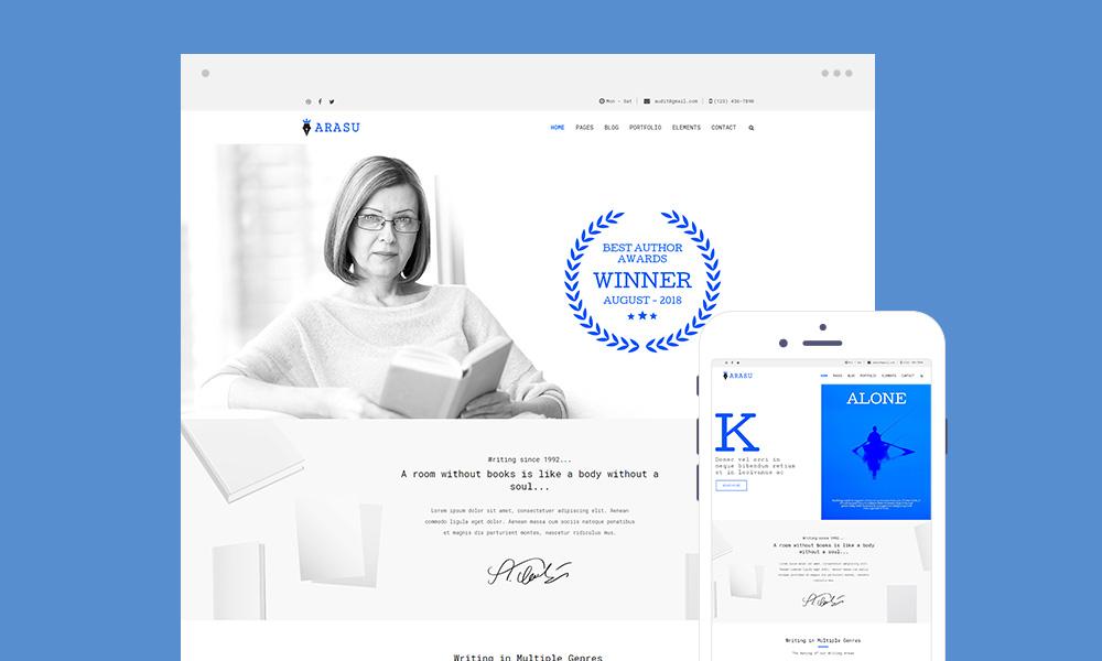 Arasu Lite – Best Free Writer WordPress Theme