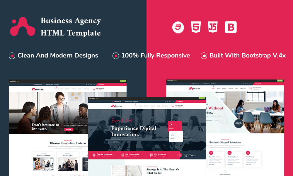 Axacus - Business Agency HTML Template