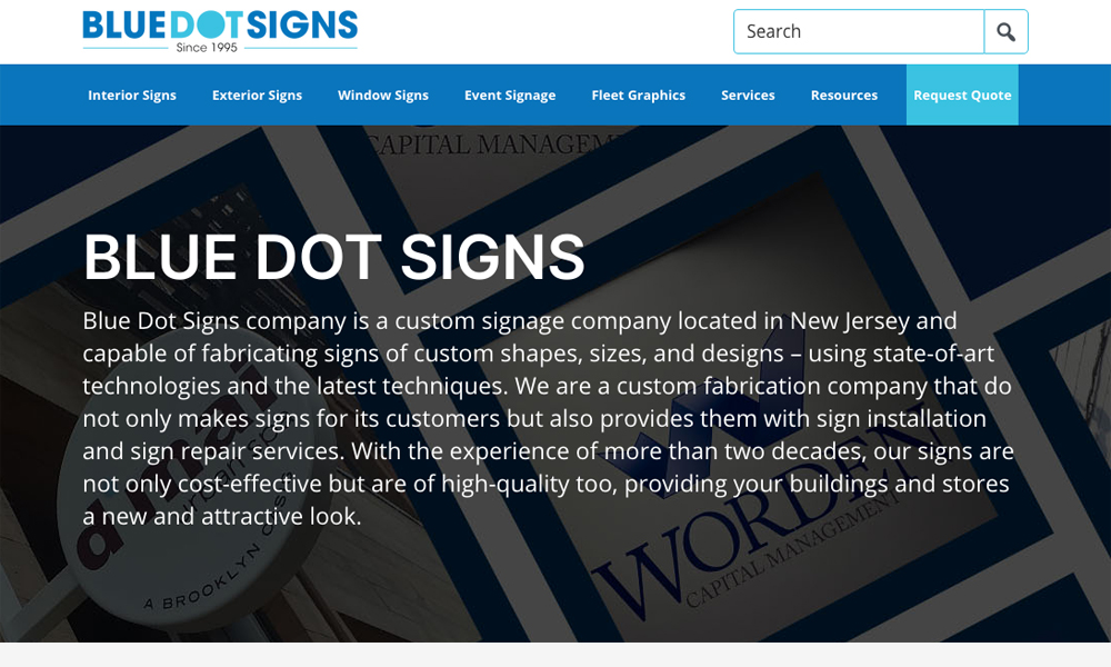 Blue Dot Signs