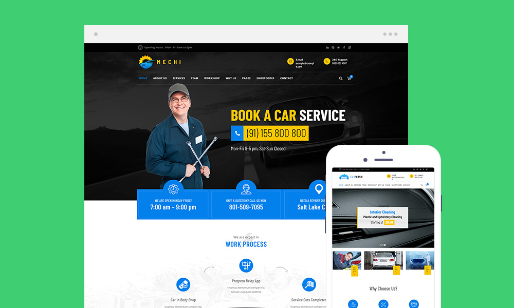 Car Repair Services & Auto Mechanic WordPress Theme Free Download