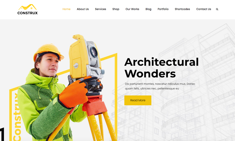 Construx Lite - Free WordPress Theme for Construction Business