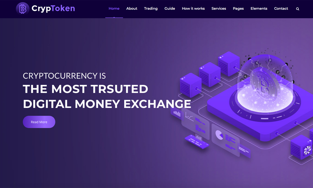 Cryptoken Lite - Cryptocurrency WordPress Theme Free