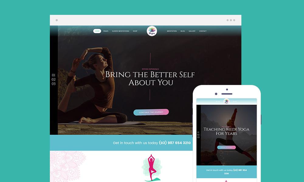 Dhyan Lite - Yoga WordPress Theme Free Download