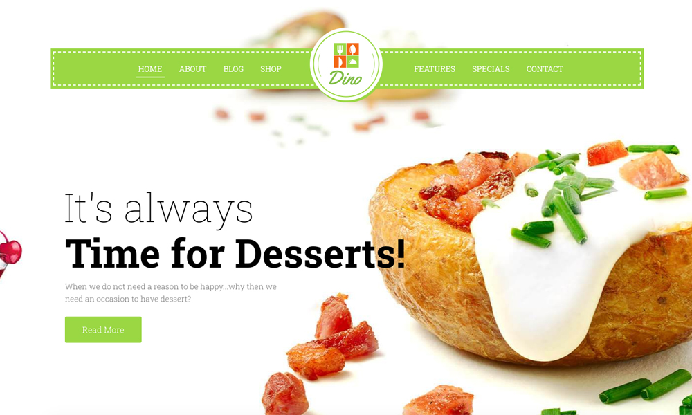 Dino Lite - Restaurant Theme WordPress Free