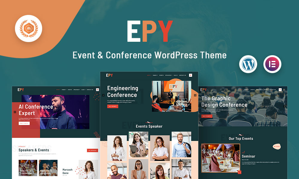Epy | Event Conference WordPress Them