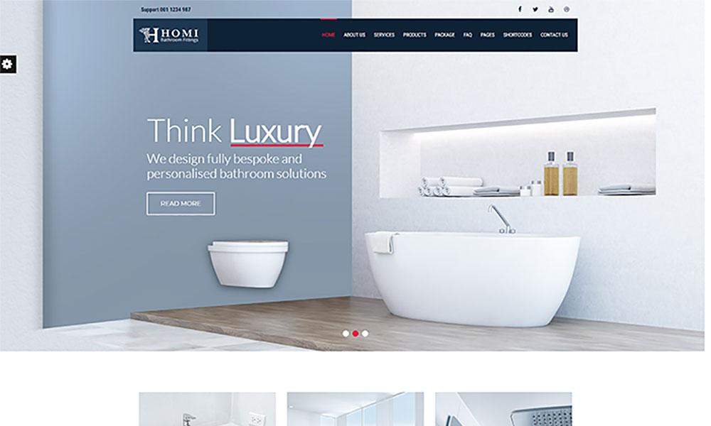 Homi Lite - Bathroom Fixtures WordPress Theme Free