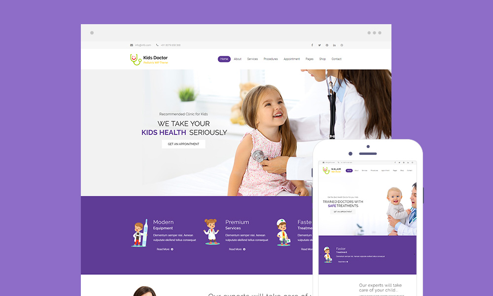 Kids Doctor Lite – Free Medical WordPress Theme for Pediatricians