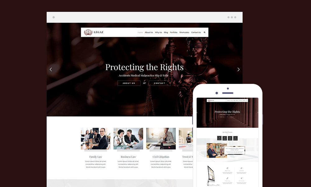Legaz Lite – Law Business WordPress Theme Free Download