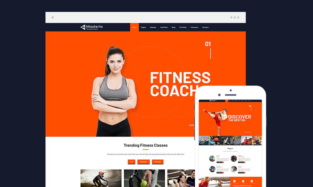 Masterio Lite – Fitness Gym WordPress Theme Free Download