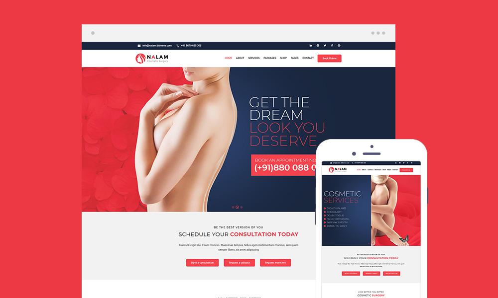 Nalam Lite - Plastic Surgery Free WordPress Theme