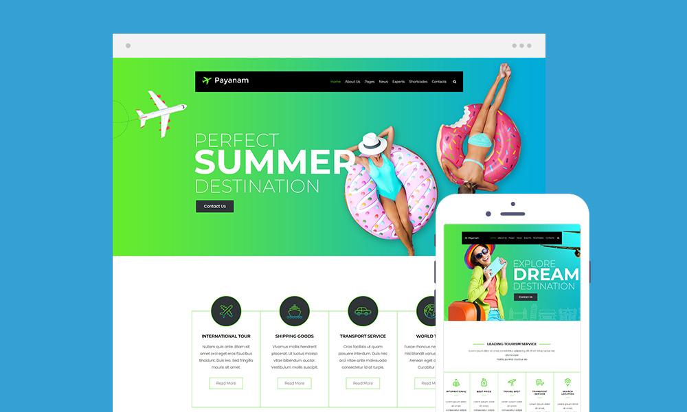Payanam Lite – WordPress Travel Theme Free