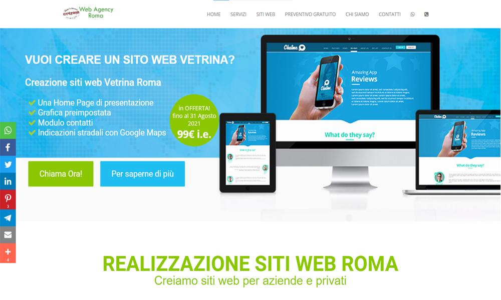 realizzazione siti web professionali roma