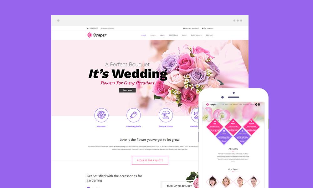 Scaper Lite - Flower Shop WordPress Theme Free Download