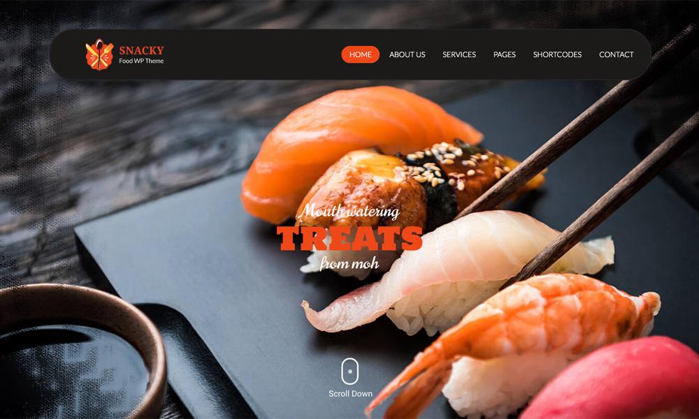 Snacky Lite - WordPress Restaurant Theme Free