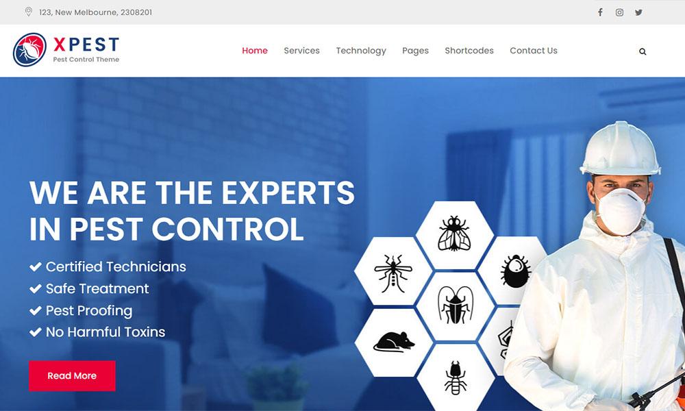 Xpest Lite Free Pest Control WordPress Theme