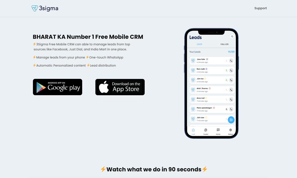 3Sigma Mobile CRM