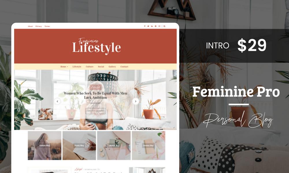 Feminine Pro -  Chic WordPress Theme