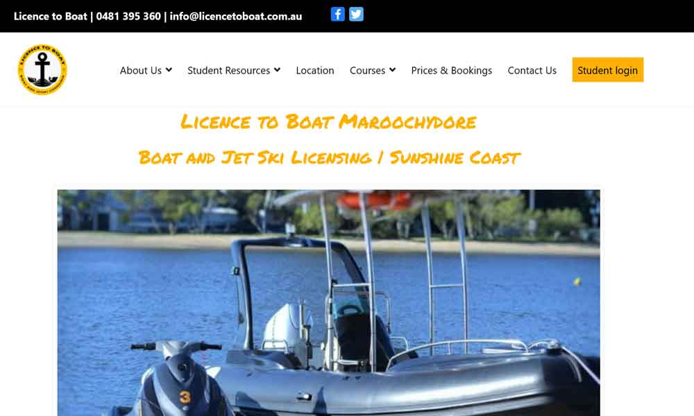 Licence to boat