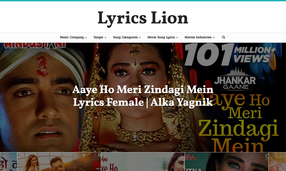 Lyrics Lion