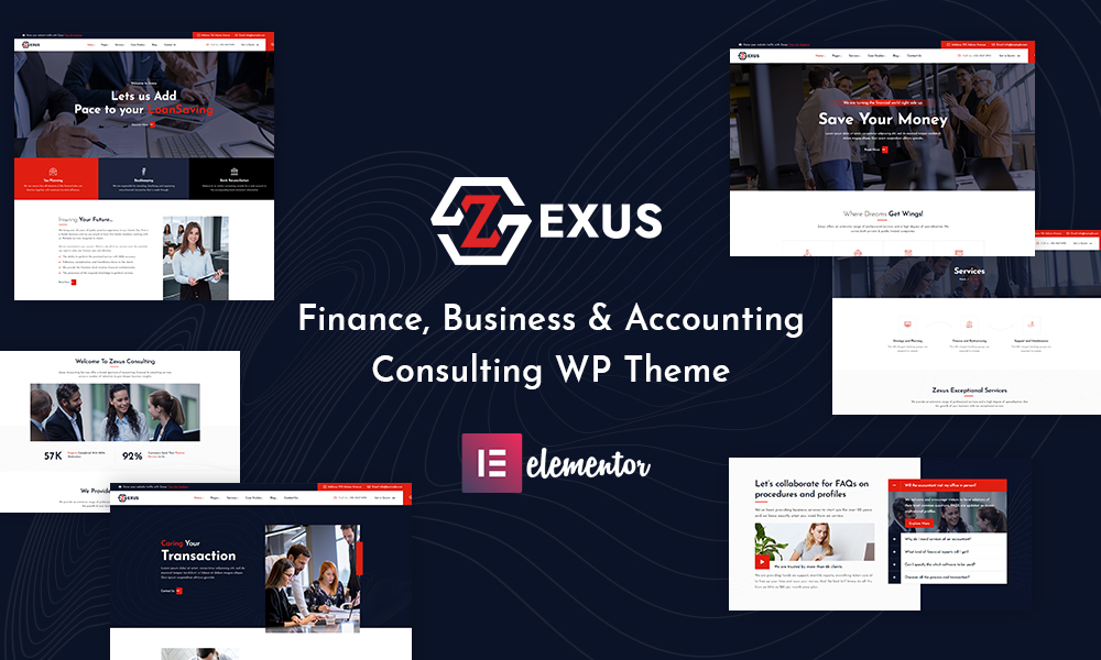 Zexus - Finance, Business & Accounting Consulting WordPress Theme