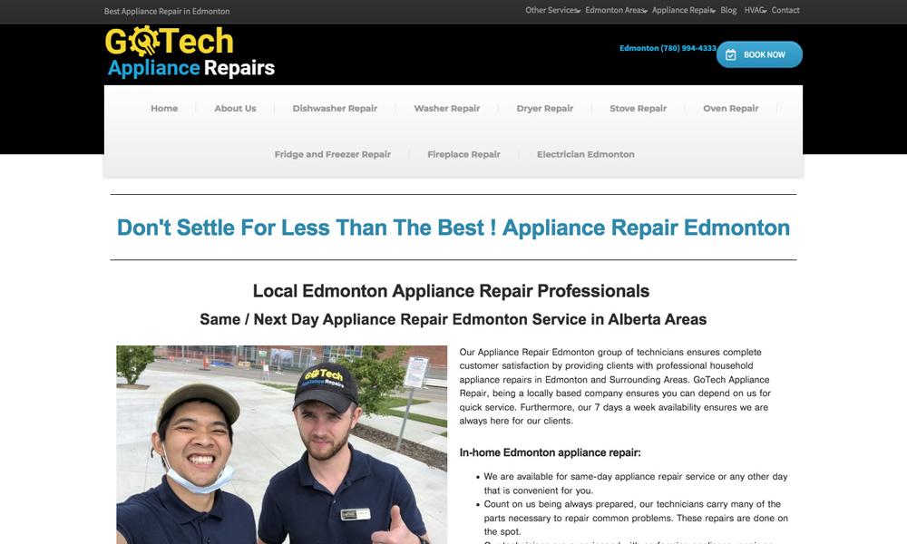 Appliance Repair Edmonton - GoTech