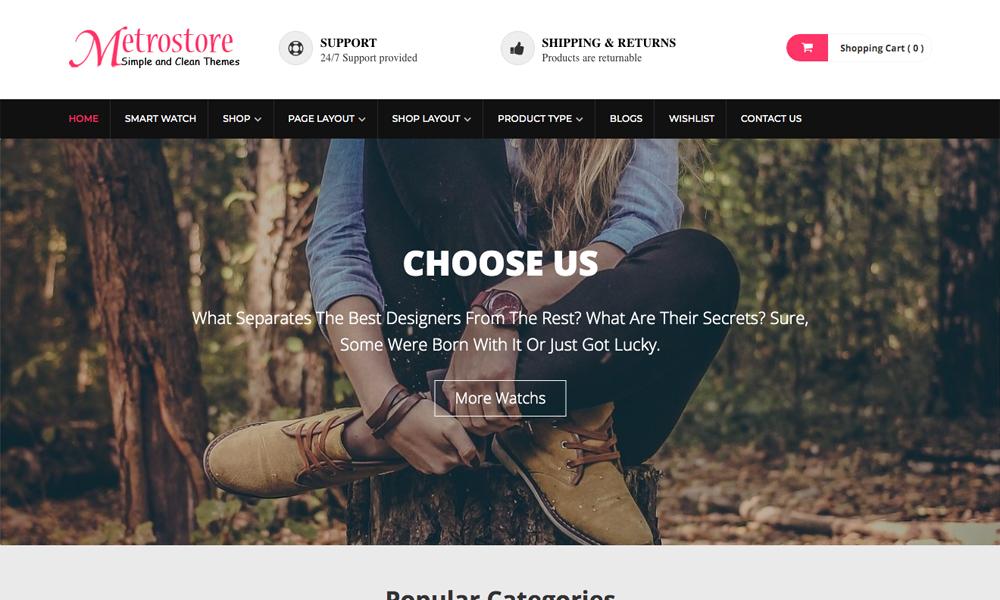MetroStore - Free eCommerce WordPress Theme For eStore