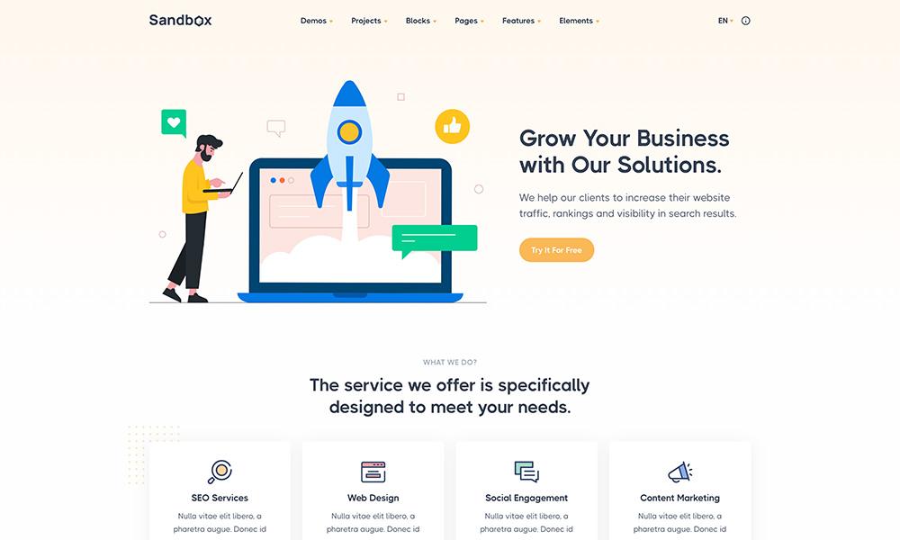 Sandbox - Modern & Multipurpose Bootstrap 5 Template