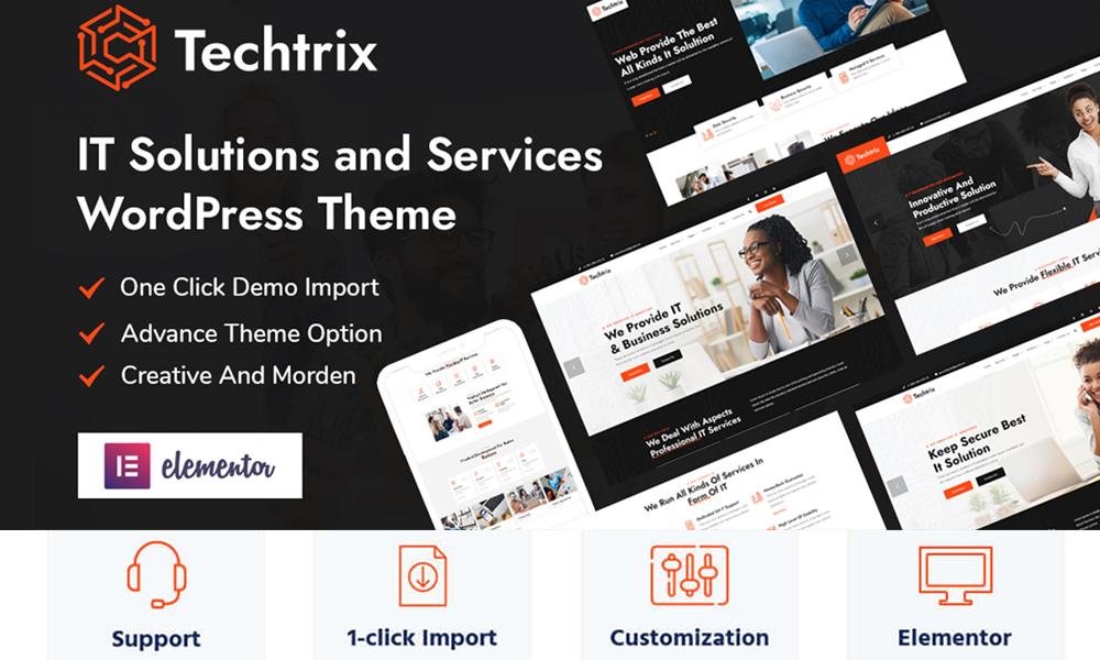 Techtrix - IT Solutions & Services WordPress Theme