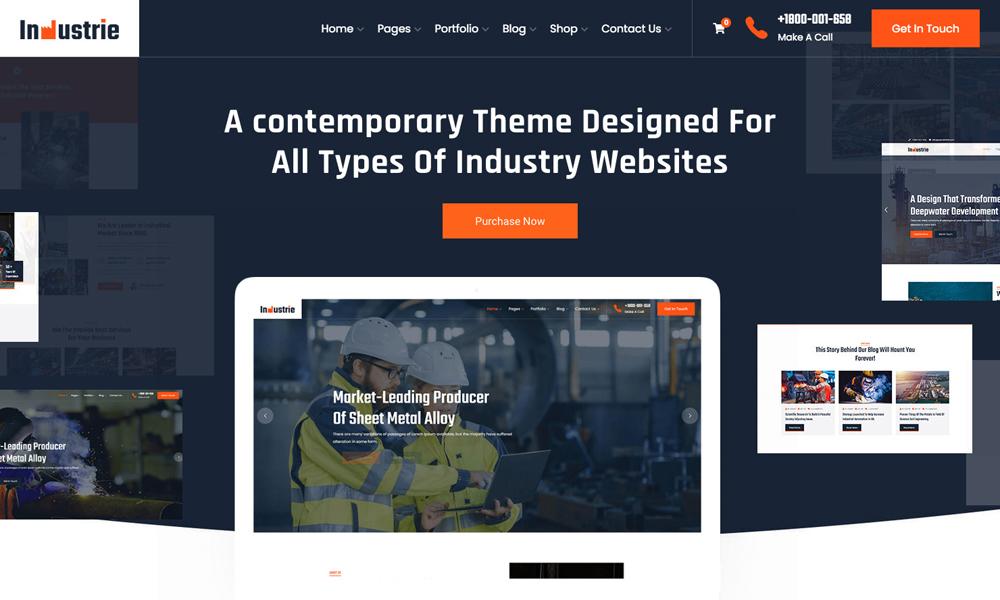 Industrie - Industry WordPress Theme