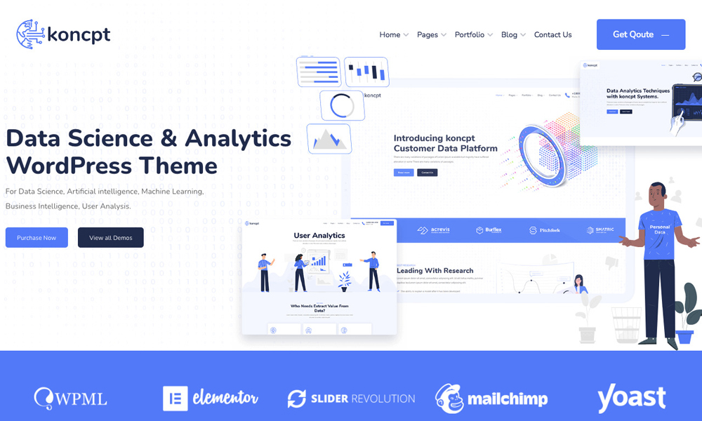 koncpt - Data Science & Analytics WordPress Theme