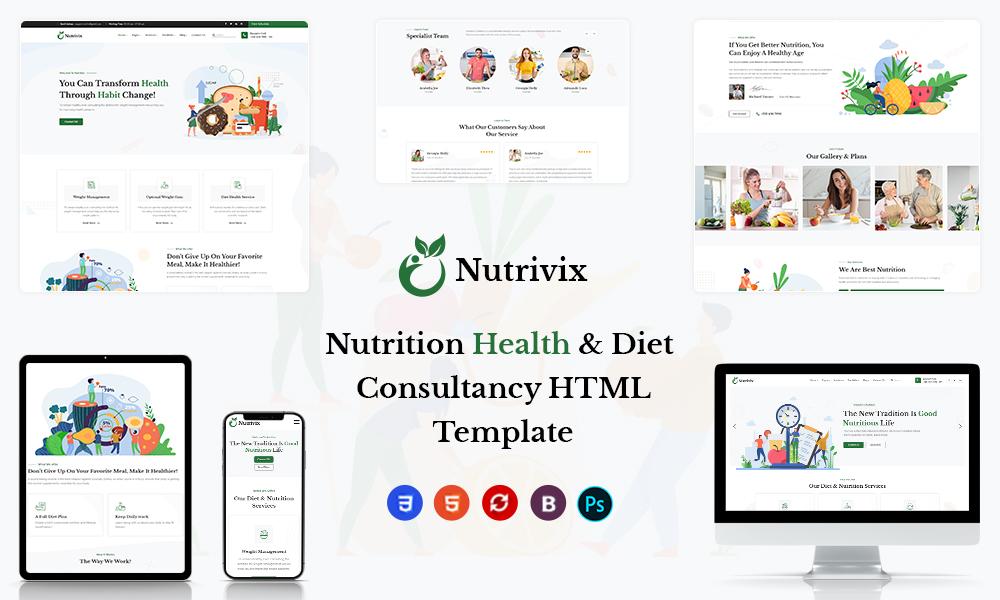 Nutrivix - Nutrition Consultancy HTML Template
