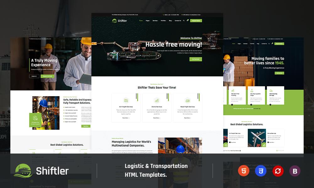 Shiftler – Transportation & Logistics Html5 Template