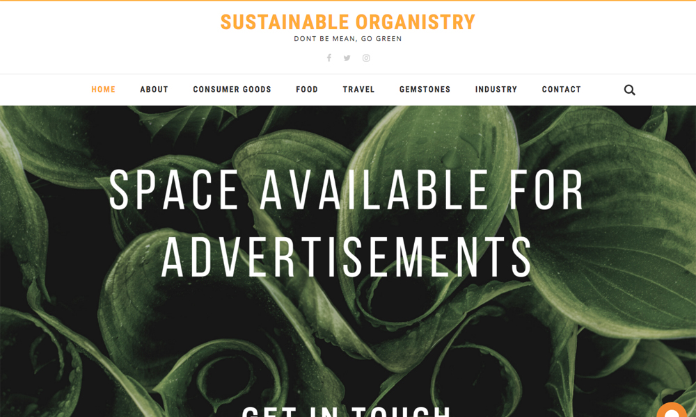 Sustainable Organistry