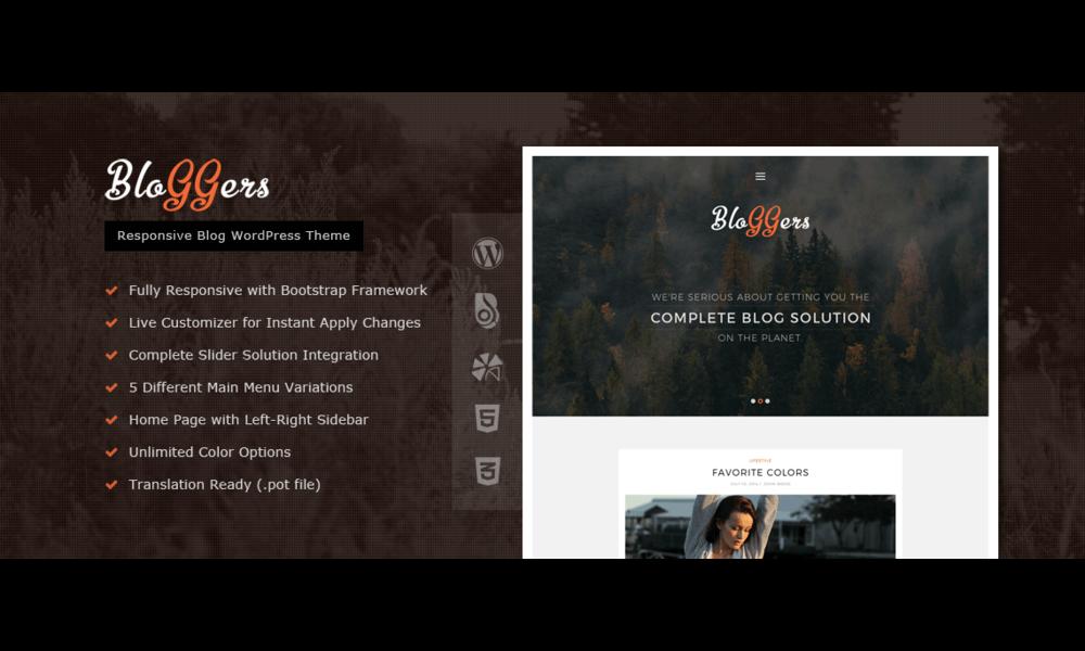 Bloggers – Responsive WordPress Blog Theme