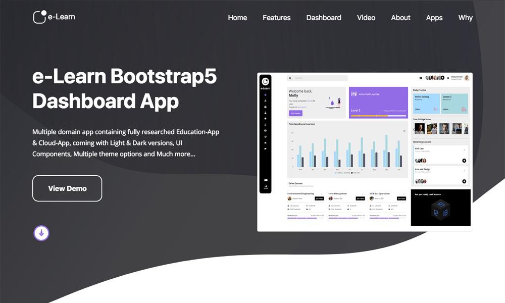 e-Learn - Education Bootstrap5 Admin Template & UI kit