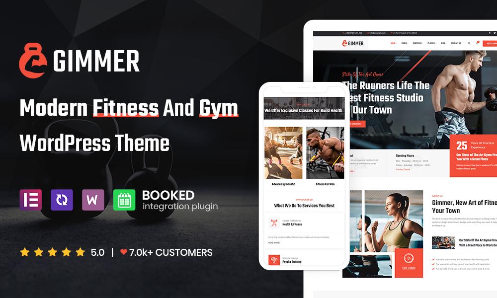 Gimmer - Fitness & Gym WordPress Theme