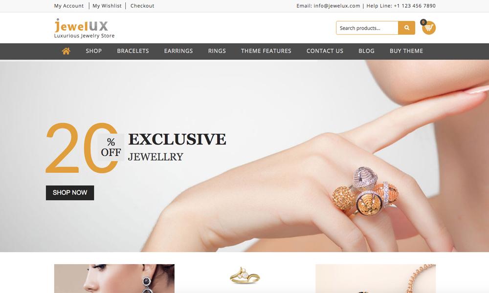 JewelUX – Jewelry WordPress Theme
