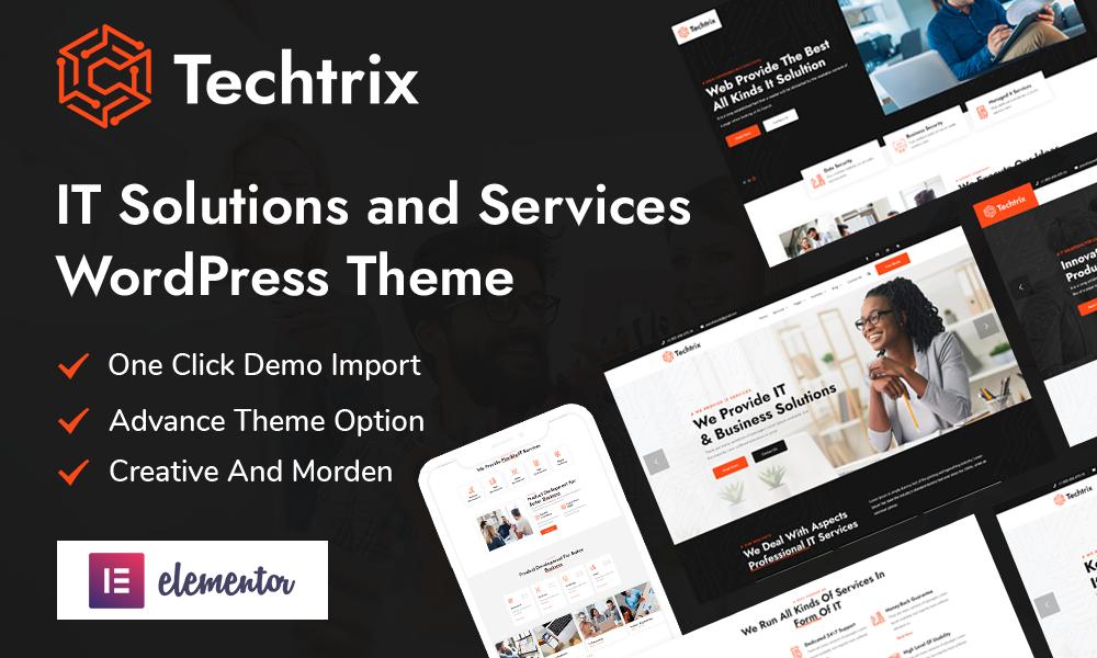 Techtrix - IT Solutions & Technology WordPress Theme