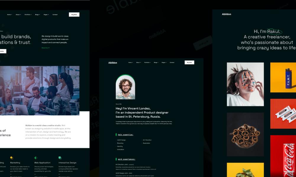Abildon - Agency & Portfolio Template