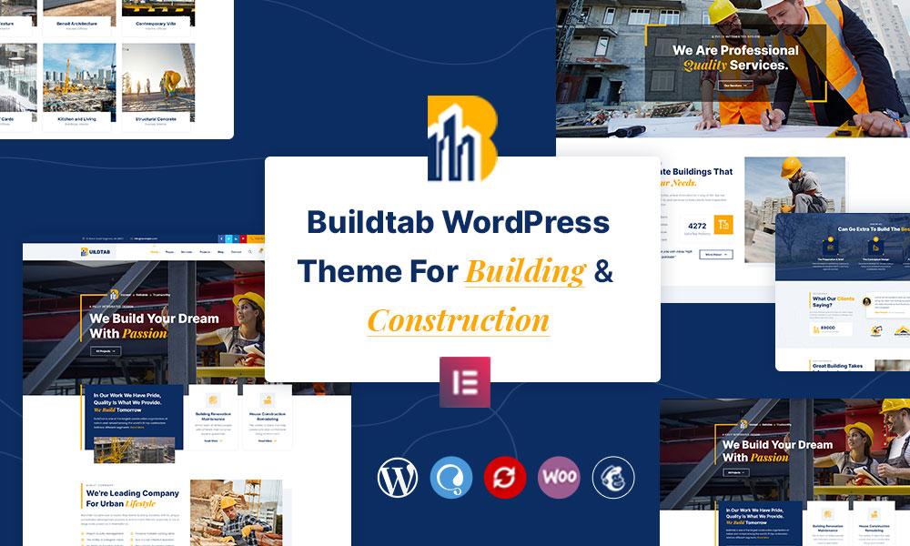 BuildTab - Construction Firm WordPress Theme