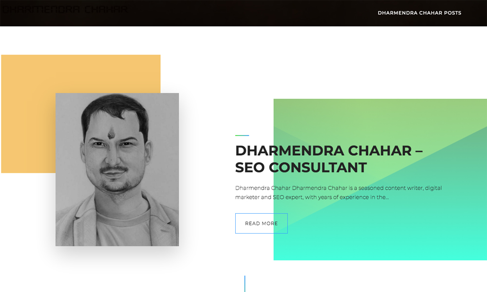 Dharmendra Chahar SEO Consultant