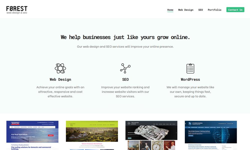 Forest Web Design Reading