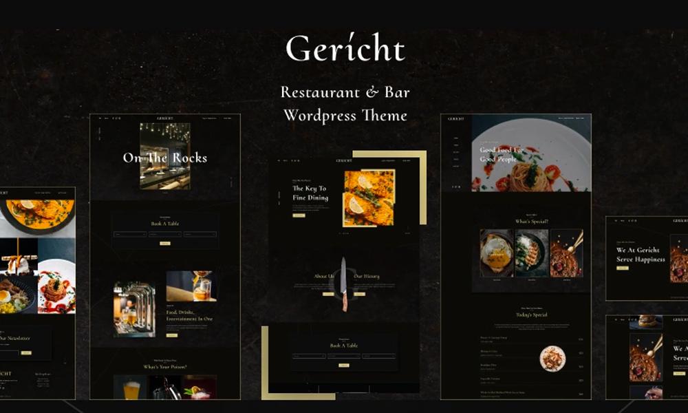 Gericht | Best Free WordPress theme for Restaurant