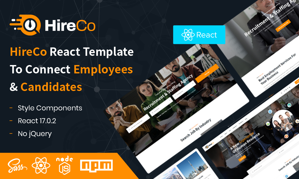 HireCo  Recruitment Services React Template